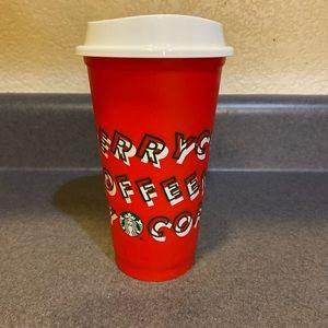 Never Used  Reusable Starbucks Christmas Cup